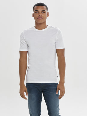 FINAL SALE – SOLID T-SHIRT WITH RAW EDGES