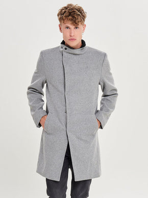 FINAL SALE - ASYMMETRIC WOOL COAT