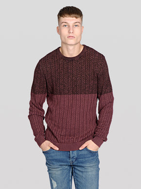 CABLE KNIT GRADIENT STYLE SWEATER