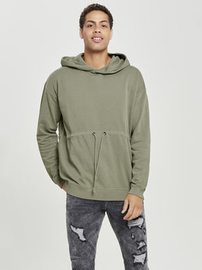 HOODIE WITH ADJUSTABLE WAIST