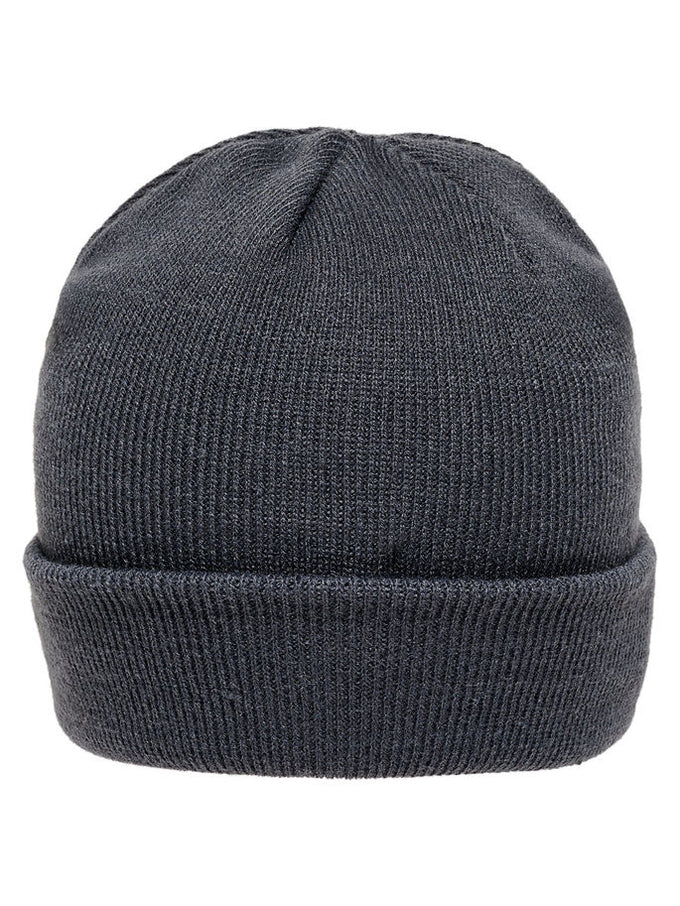 ROLL UP BEANIE WITH LEATHER LOGO BLUE NIGHTS