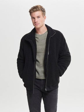 FINAL SALE - SHERPA HICK-NECK JACKET