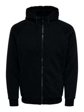ZIP-UP HOODIE WITH TEDDY LINING