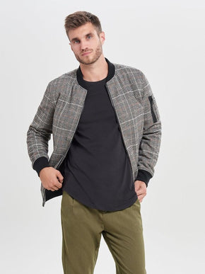 FINAL SALE - WOOL-BLEND BOMBER JACKET