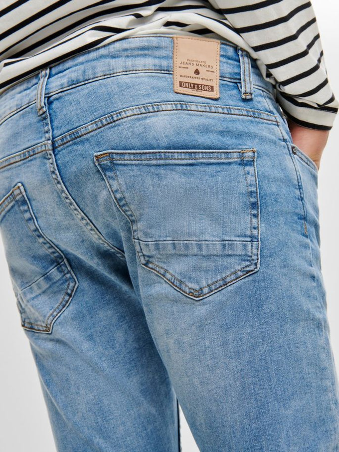 SLIM FIT PALE BLUE JEANS BLUE DENIM