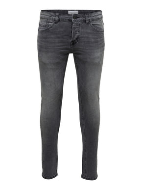 SKINNY FIT GREY WASHED LOOK JEANS