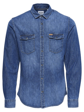 FINAL SALE - WESTERN STYLE DENIM SHIRT