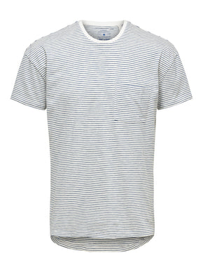 FINAL SALE - HIGH-LOW STRIPED T-SHIRT