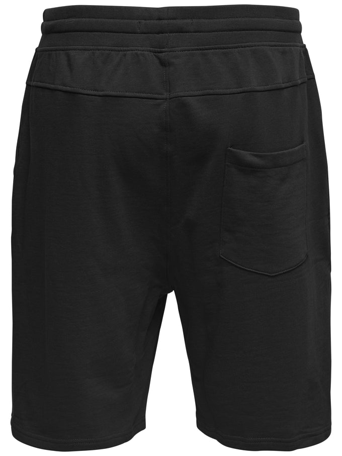 ONLY & SONS SWEAT SHORTS BLACK