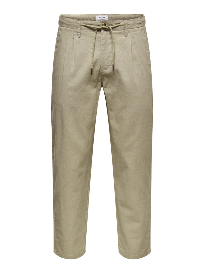 LEO LINEN PANTS CHINCHILLA
