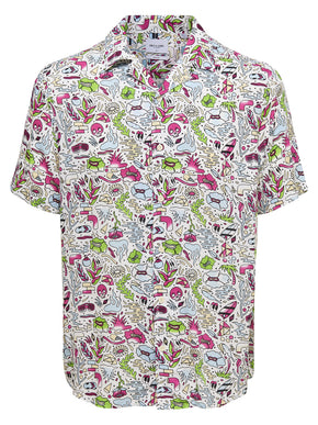 SHORT SLEEVE SHIRT WITH FUNKY DRAWINGS