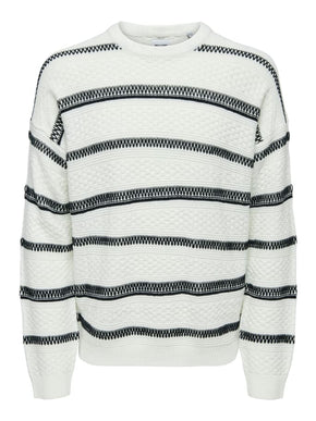 PERRY STRUCTURED STRIPED KNIT