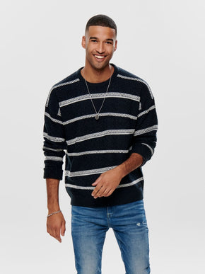 FINAL SALE - PERRY STRUCTURED STRIPED KNIT