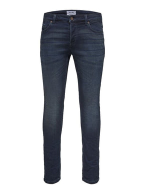 SLIM FIT STRETCH DARK BLUE JEANS