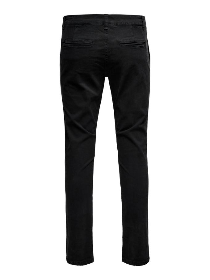 CLASSIC SLIM FIT CHINO PANTS BLACK