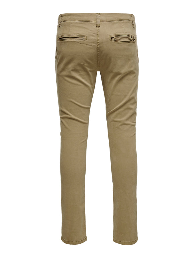 CLASSIC SLIM FIT CHINO PANTS KANGAROO
