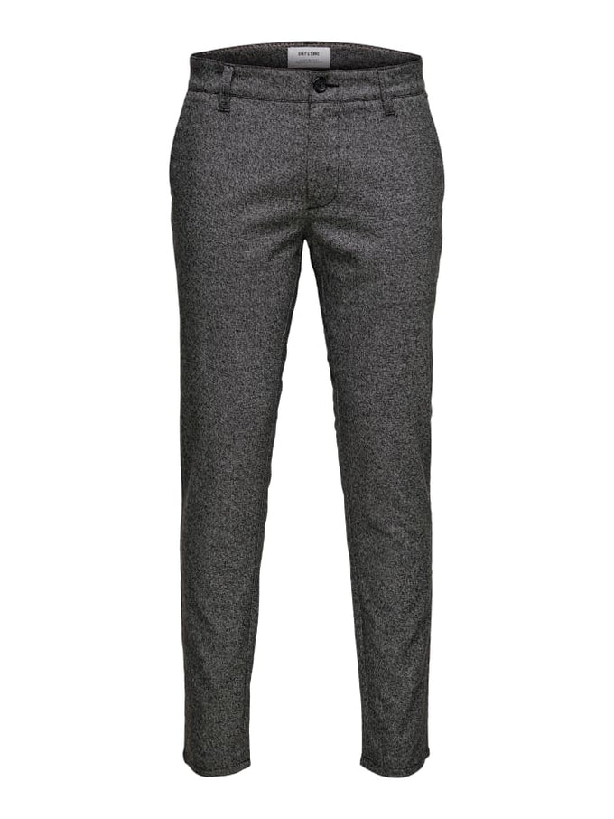 STRETCHY MELANGE STYLE PANTS MEDIUM GREY MELANGE