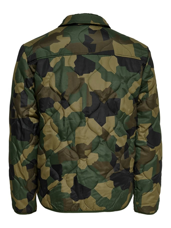 UTILITY STYLE QUILTED JACKET FOREST NIGHT