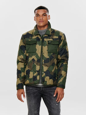 UTILITY STYLE QUILTED JACKET