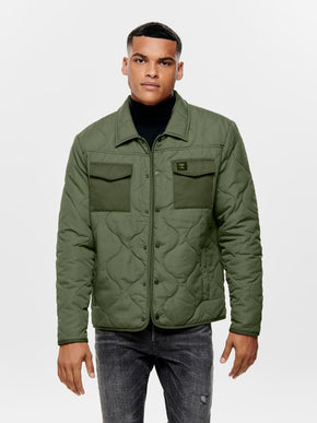 FINAL SALE - UTILITY STYLE QUILTED JACKET