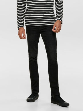 LOOM 4340 BLACK WASHED SLIM FIT JEANS