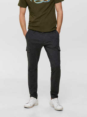 STRETCHY CARGO MARK PANTS