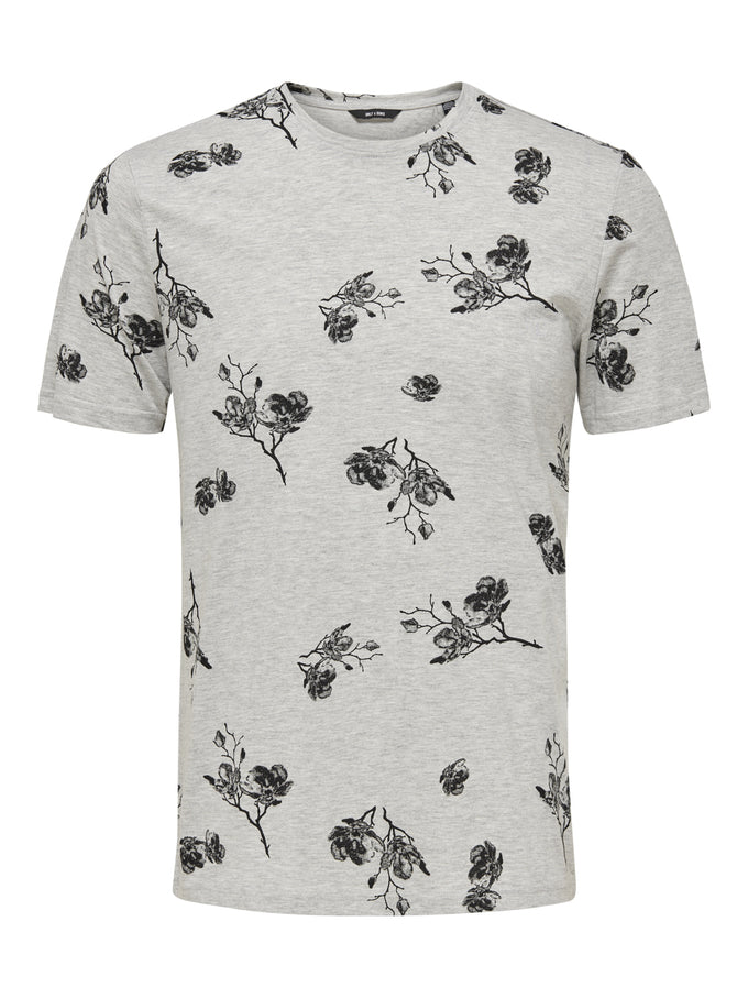 TIPPOSON T-SHIRT LIGHT GREY MELANGE