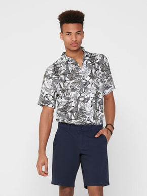 FINAL SALE - GABRIAL ANIMAL VISCOSE SHORT SLEEVE SHIRT