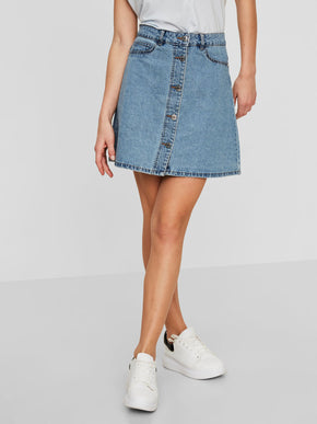 SHORT DENIM SKATER SKIRT