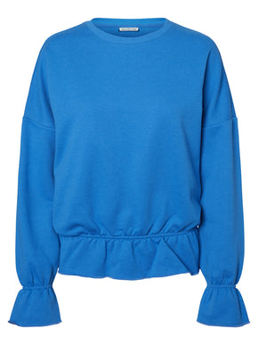 SWEATSHIRT WITH ELASTIC DETAILS
