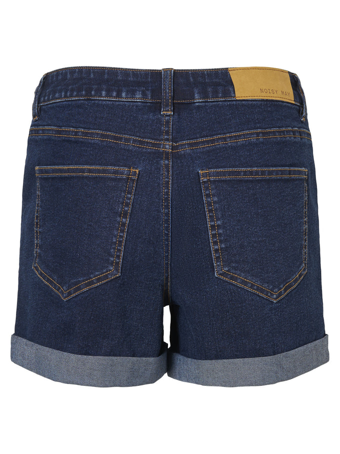 SHORT EXTENSIBLE EN DENIM BLEU DENIM FONCÉ