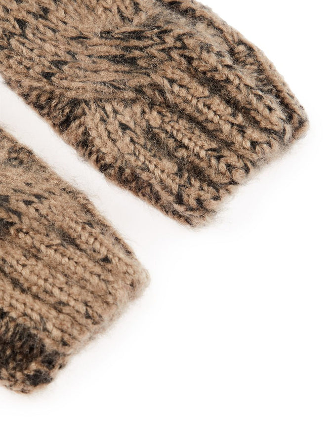 COLOURFUL MITTENS TAUPE GRAY