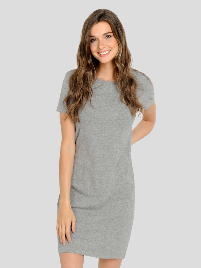 ESSENTIAL BODYCON DRESS LIGHT GREY MELANGE