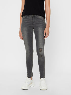 NMLUCY COFFEE SLIM FIT GREY JEANS