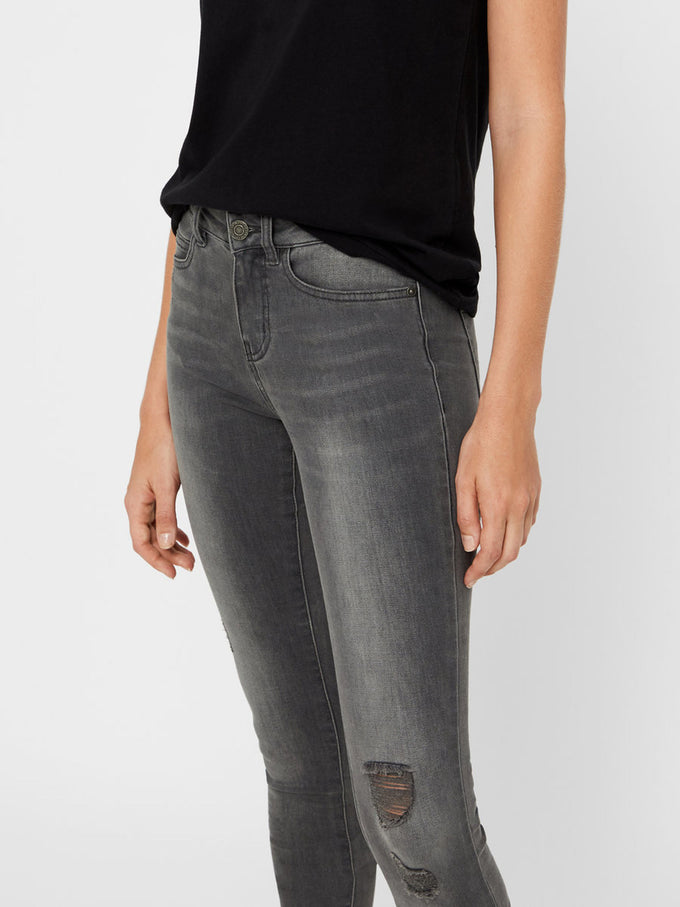 NMLUCY COFFEE SLIM FIT GREY JEANS MEDIUM GREY DENIM