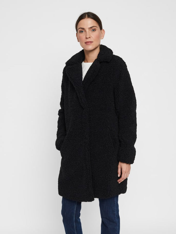 Gabi Sherpa Coat BLACK