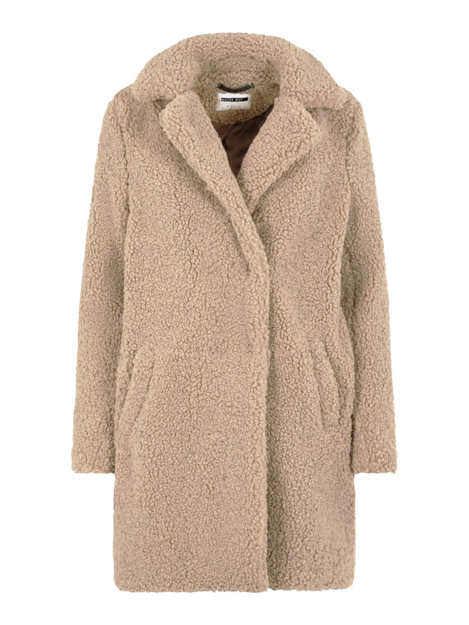 Gabi Sherpa Coat WHITE PEPPER