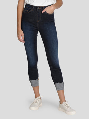 NMLEXI SKINNY FIT FOLDED JEANS