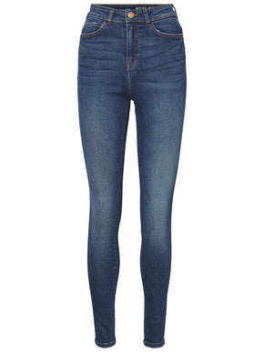 JEANS SKINNY NMLEXI CHEVILLE À TAILLE HAUTE