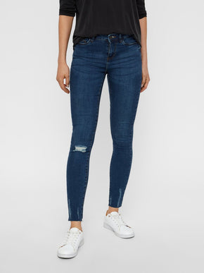 NMLUCY SKINNY FIT ANKLE JEANS