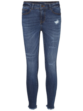 NMLUCY SKINNY FIT DISTRESSED JEANS