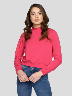 HIGH-NECK SHORT SWEATSHIRT