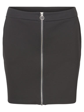 SHORT JERSEY SKIRT WITH ZIPPER CLOSURE