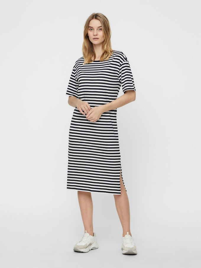 MODAL-BLEND T-SHIRT-DRESS BLACK