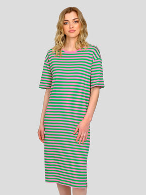 MODAL-BLEND STRIPED DRESS