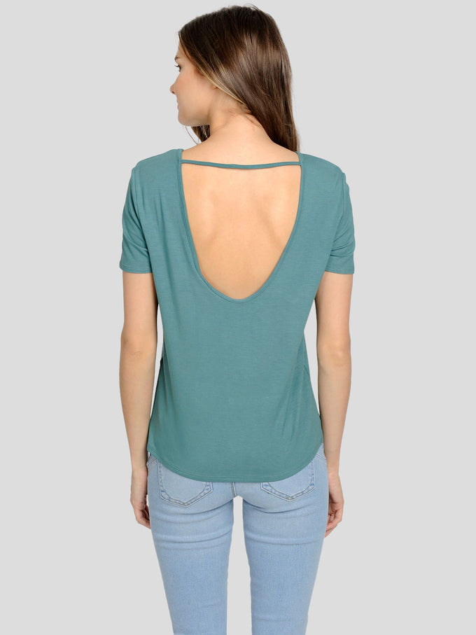 SUPER SOFT T-SHIRT WITH AN OPEN BACK NORTH ATLANTIC