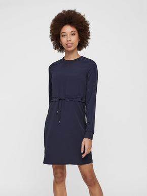 LONG SLEEVE CREPE DRESS