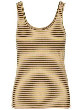 STRIPED RIBBED TANK TOP