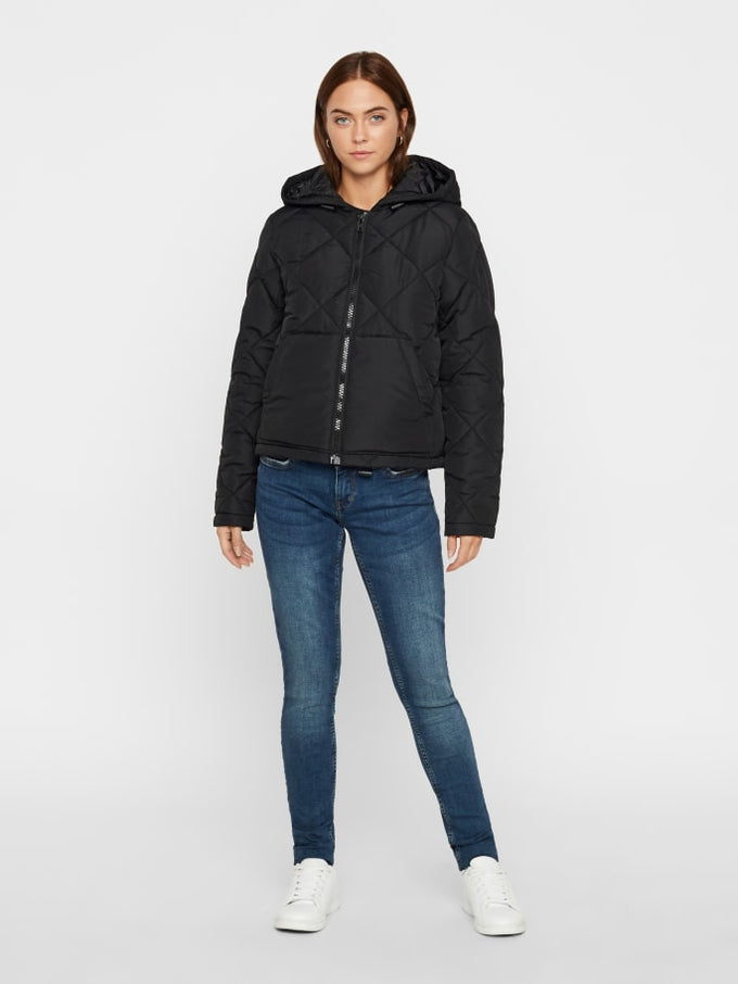 QUILTED PUFFER JACKET BLACK