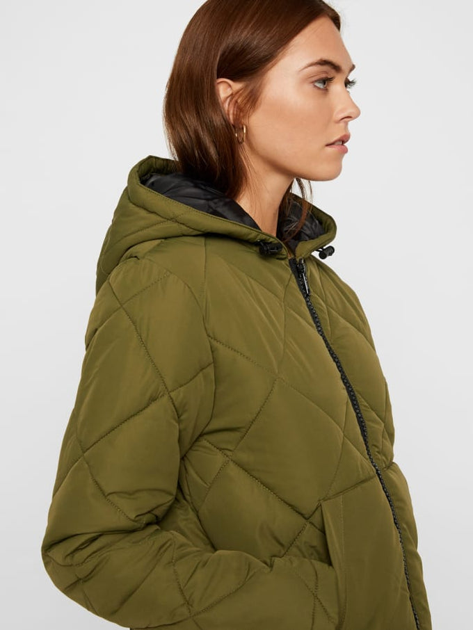 QUILTED PUFFER JACKET WINTER MOSS